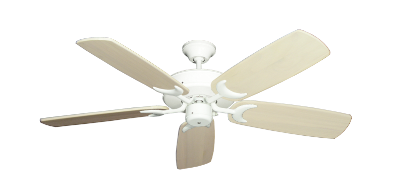 "Picture of Patio Fan Pure White with 52"" Series 425 Arbor Whitewash Blades"