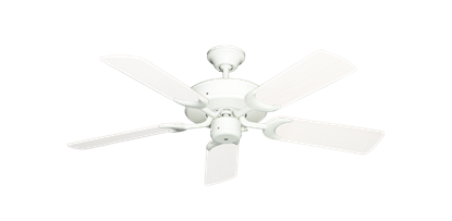 "Patio Fan Pure White with 44"" Outdoor Pure White Blades"