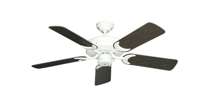"Patio Fan Pure White with 44"" Outdoor Oil Rubbed Bronze Blades"
