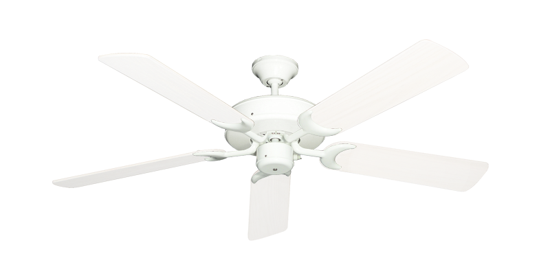 """Picture of Patio Fan Pure White with 52"""" Outdoor Pure White Blades"""