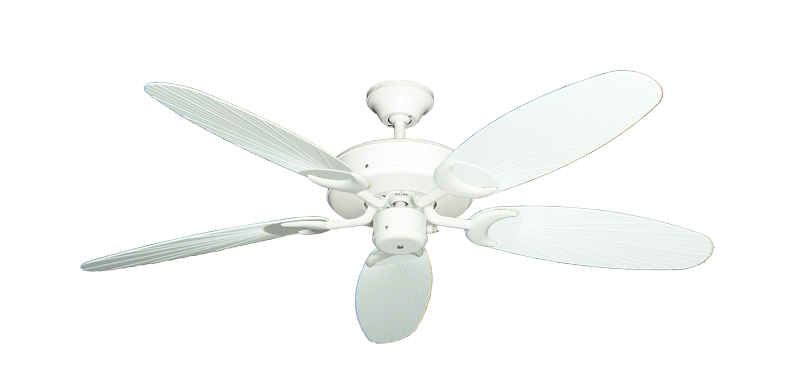 """Picture of Patio Fan Pure White with 52"""" Outdoor Leaf Pure White Blades"""