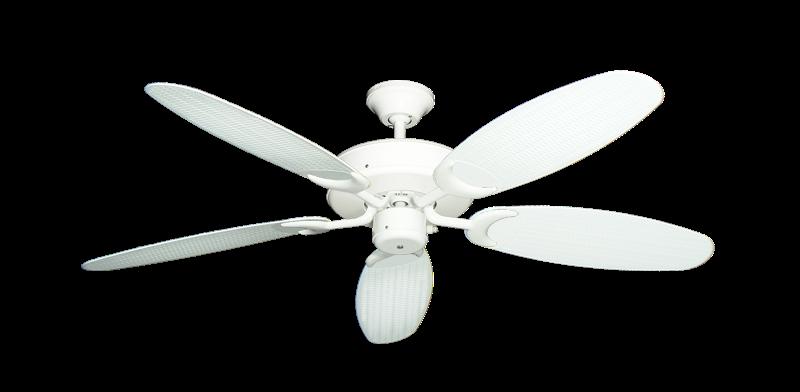 Patio Fan Ceiling Fan In Pure White With 52 Outdoor Wicker Pure White Blades Dan S Fan City C Ceiling Fans Fan Parts Accessories