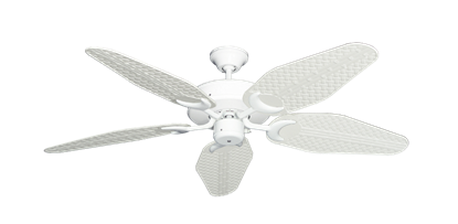 """Picture of Patio Fan Pure White with 52"""" Outdoor Weave Pure White Blades"""