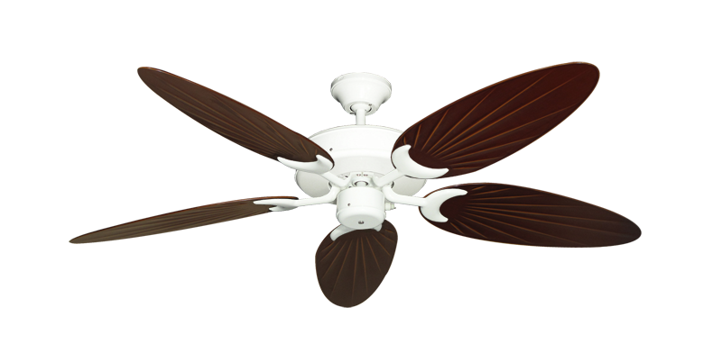 """Picture of Patio Fan Pure White with 52"""" Outdoor Palm Wine Blades"""