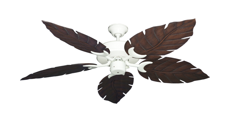 """Picture of Patio Fan Pure White with 52"""" Venetian Oil Rubbed Bronze Blades"""