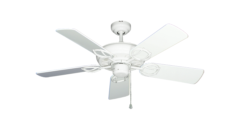 """Picture of Trinidad Pure White with 44"""" Pure White Gloss Blades"""