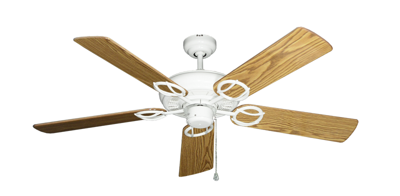 """Picture of Trinidad Pure White with 52"""" Oak Gloss Blades"""