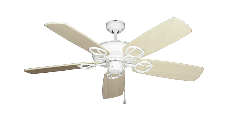 """Picture of Trinidad Pure White with 52"""" Series 425 Arbor Whitewash Blades"""