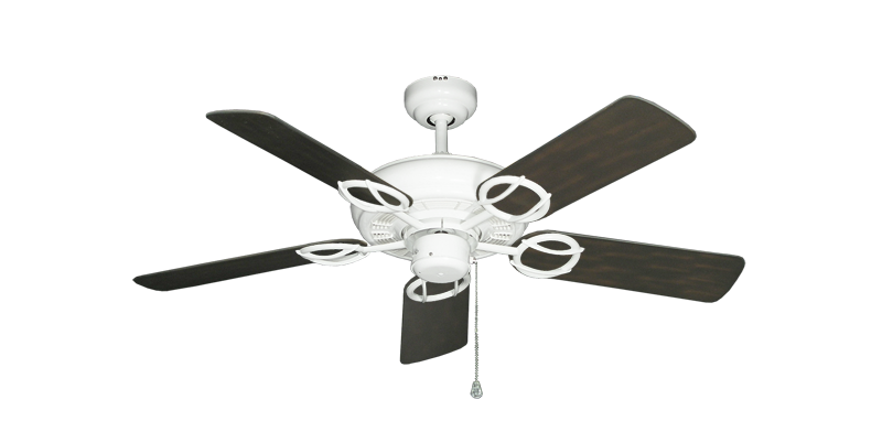 "Trinidad Pure White with 44"" Outdoor Oil Rubbed Bronze Blades"