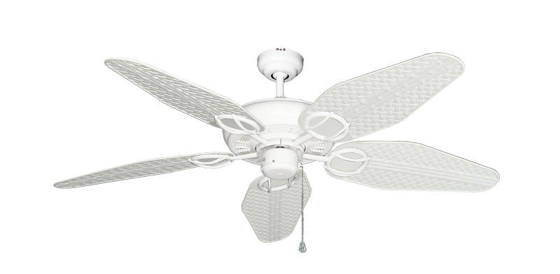 """Picture of Trinidad Pure White with 52"""" Outdoor Weave Pure White Blades"""