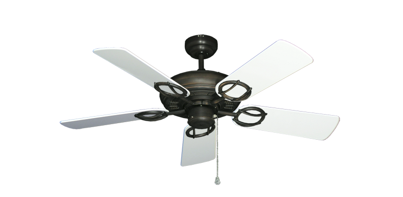 """Picture of Trinidad Oil Rubbed Bronze with 44"""" Pure White Gloss Blades"""