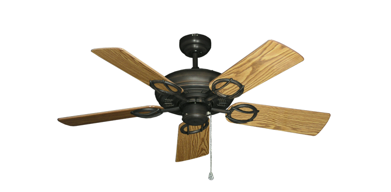 """Picture of Trinidad Oil Rubbed Bronze with 44"""" Oak Gloss Blades"""