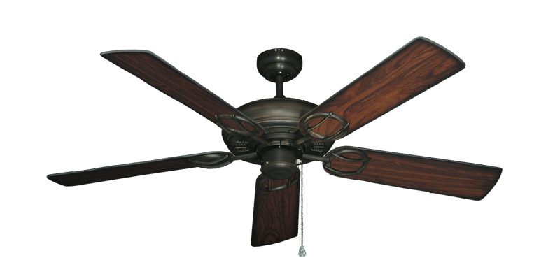 "Picture of Trinidad Oil Rubbed Bronze with 52"" Burnt Cherry Blades"