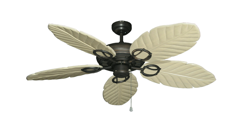 """Picture of Trinidad Oil Rubbed Bronze with 52"""" Series 125 Arbor Whitewash Blades"""