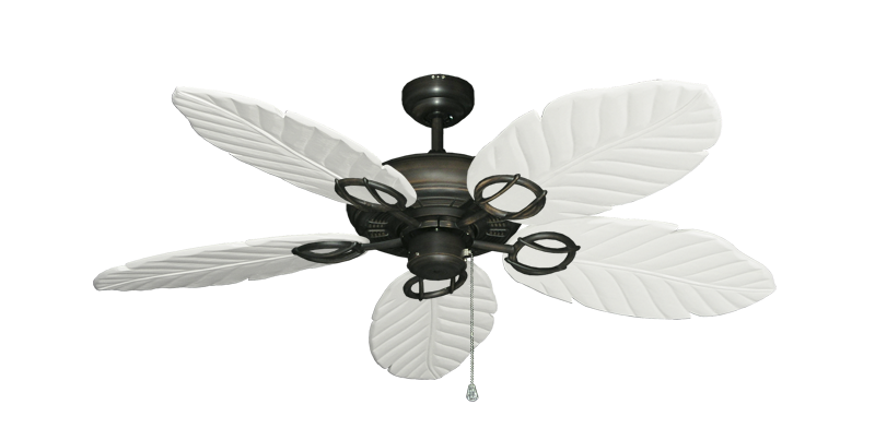 """Picture of Trinidad Oil Rubbed Bronze with 52"""" Series 125 Arbor Pure White Blades"""