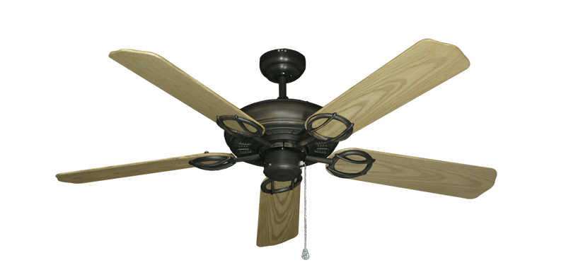"""Picture of Trinidad Oil Rubbed Bronze with 52"""" Outdoor Bleached Oak Blades"""