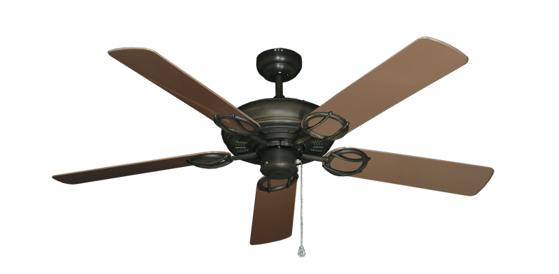 """Picture of Trinidad Oil Rubbed Bronze with 52"""" Outdoor Brown Blades"""