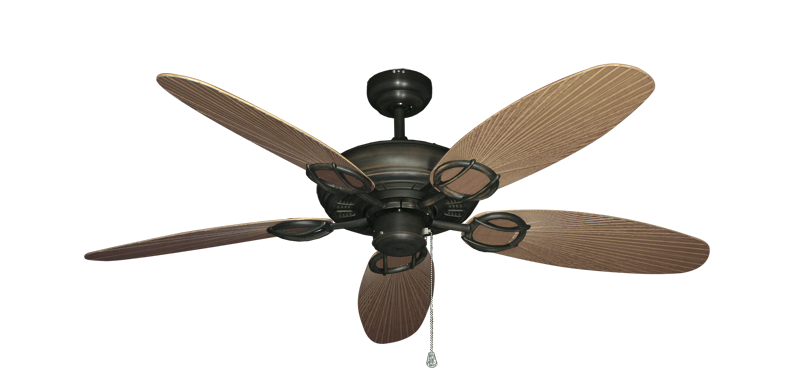 """Picture of Trinidad Oil Rubbed Bronze with 52"""" Outdoor Leaf Tan Blades"""