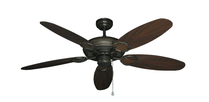 """Picture of Trinidad Oil Rubbed Bronze with 52"""" Outdoor Leaf Oil Rubbed Bronze Blades"""