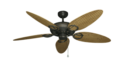 """Trinidad Oil Rubbed Bronze with 52"""" Outdoor Bamboo Walnut Blades"""