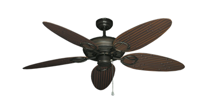 """Trinidad Oil Rubbed Bronze with 52"""" Outdoor Bamboo Oil Rubbed Bronze Blades"""
