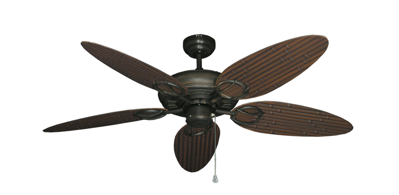 "Picture of Trinidad Oil Rubbed Bronze with 52"" Outdoor Bamboo Oil Rubbed Bronze Blades"