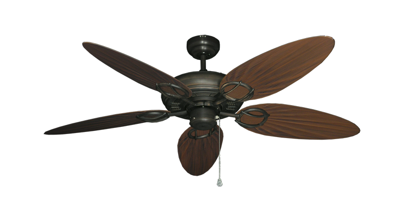 """Picture of Trinidad Oil Rubbed Bronze with 52"""" Outdoor Palm Oil Rubbed Bronze Blades"""