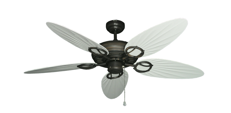 """Picture of Trinidad Oil Rubbed Bronze with 52"""" Outdoor Palm Pure White Blades"""