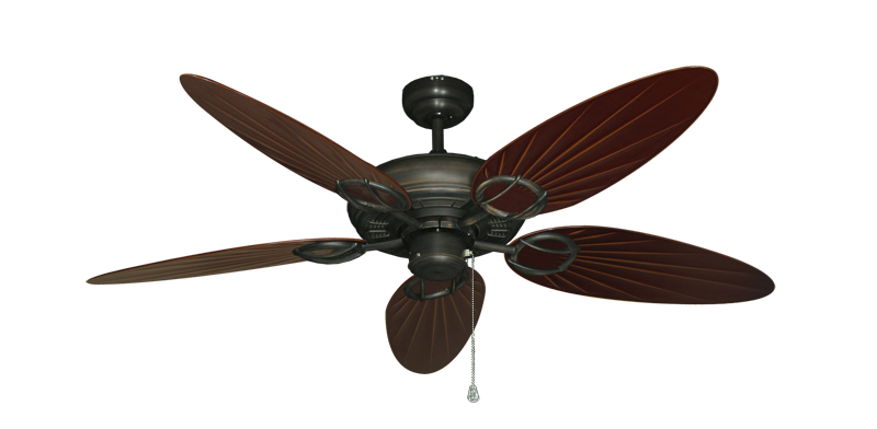 """Picture of Trinidad Oil Rubbed Bronze with 52"""" Outdoor Palm Wine Blades"""