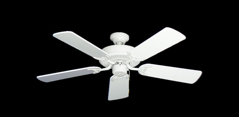 "Bermuda Breeze V Pure White with 44"" Pure White Gloss Blades"