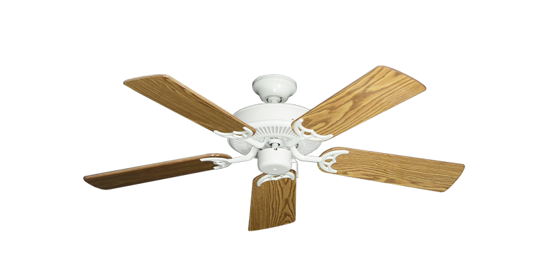 """Picture of Bermuda Breeze V Pure White with 44"""" Oak Gloss Blades"""