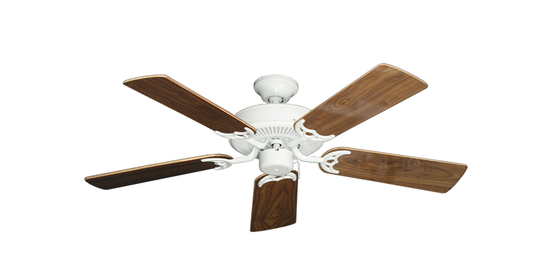 """Picture of Bermuda Breeze V Pure White with 44"""" Walnut Gloss Blades"""