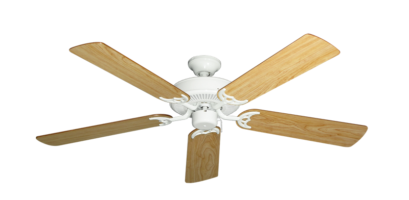"""Picture of Bermuda Breeze V Pure White with 52"""" Maple Blades"""