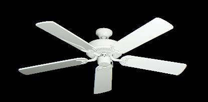 "Bermuda Breeze V Pure White with 52"" Pure White Gloss Blades"