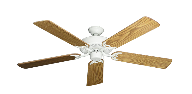 """Picture of Bermuda Breeze V Pure White with 52"""" Oak Gloss Blades"""