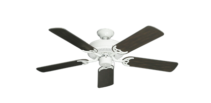 """Picture of Bermuda Breeze V Pure White with 44"""" Outdoor Oil Rubbed Bronze Blades"""