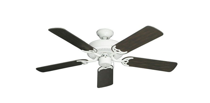 "Picture of Bermuda Breeze V Pure White with 44"" Outdoor Oil Rubbed Bronze Blades"