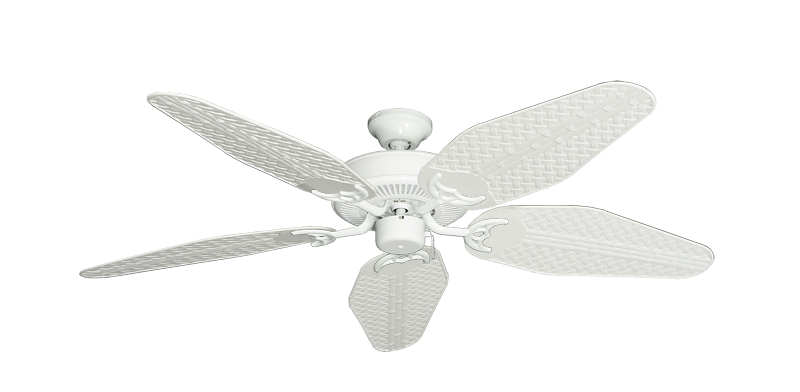 """Picture of Bermuda Breeze V Pure White with 52"""" Outdoor Weave Pure White Blades"""
