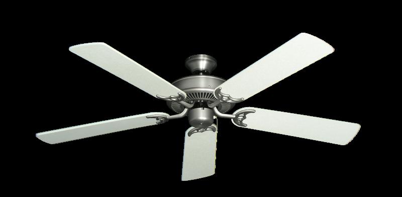 """Bermuda Breeze V Satin Steel with 52"""" Navajo White Blades"""
