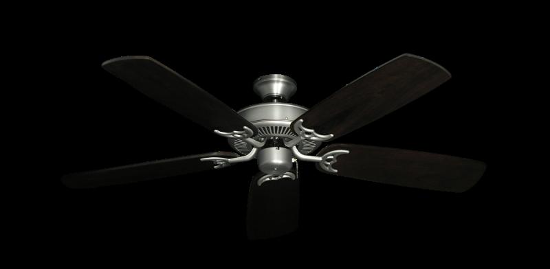 "Bermuda Breeze V Satin Steel with 52"" Series 425 Arbor Dark Walnut Blades"