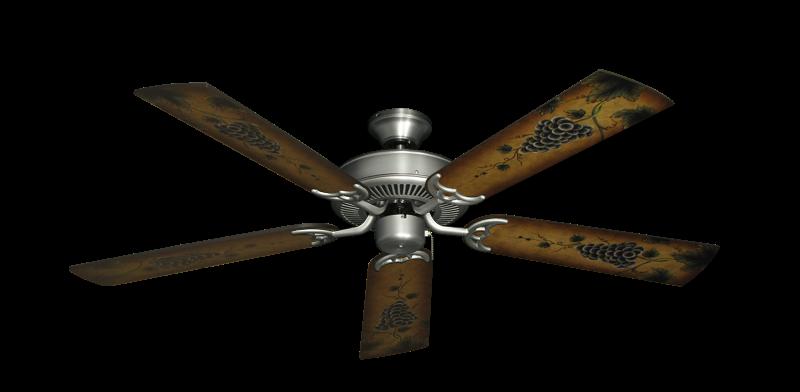 "Bermuda Breeze V Satin Steel with 52"" Series 353 Arbor Grapes Blades"