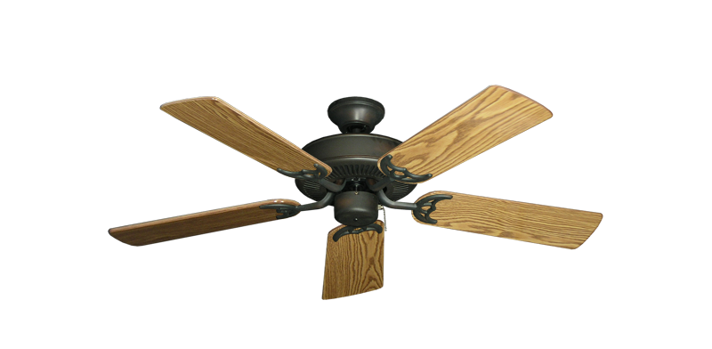 """Picture of Bermuda Breeze V Oil Rubbed Bronze with 44"""" Oak Gloss Blades"""