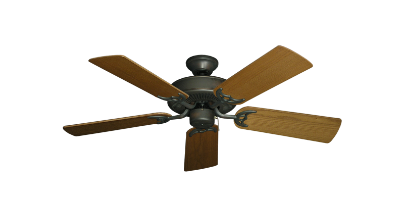 "Picture of Bermuda Breeze V Oil Rubbed Bronze with 44"" Light Oak Blades"