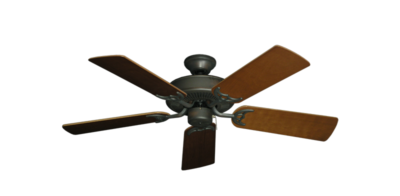 "Picture of Bermuda Breeze V Oil Rubbed Bronze with 44"" Natural Cherry Blades"
