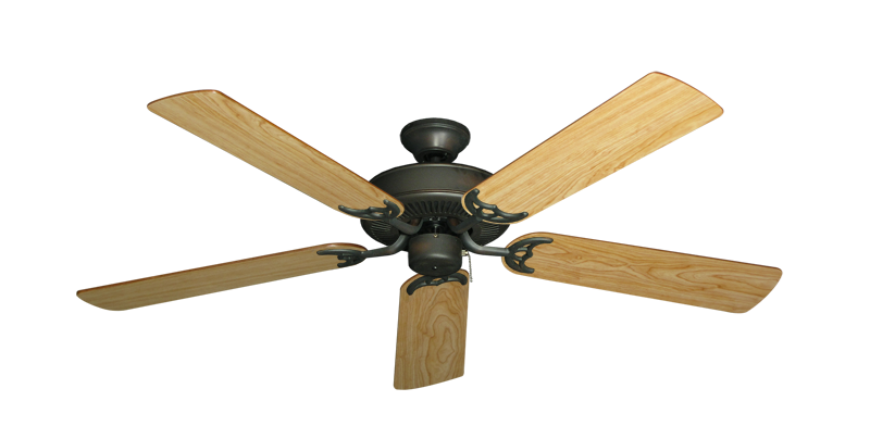"Picture of Bermuda Breeze V Oil Rubbed Bronze with 52"" Maple Blades"