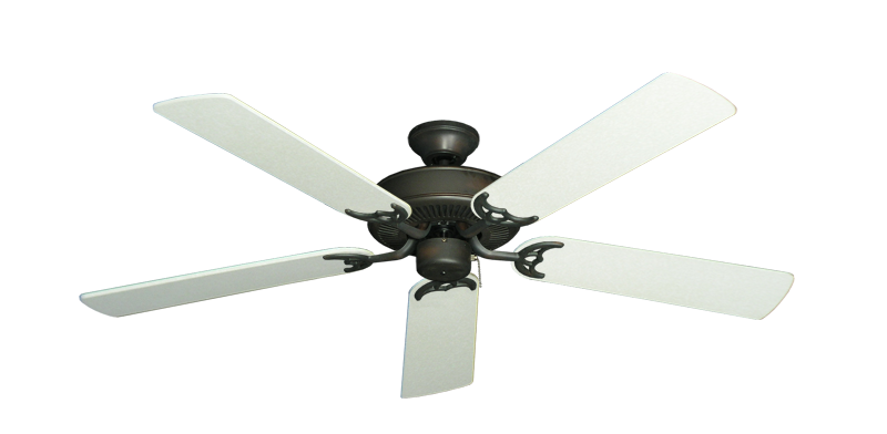 "Picture of Bermuda Breeze V Oil Rubbed Bronze with 52"" Navajo White Blades"