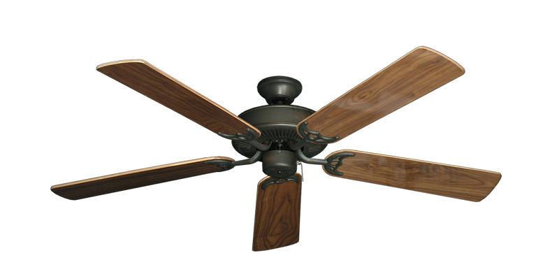 "Picture of Bermuda Breeze V Oil Rubbed Bronze with 52"" Walnut Gloss Blades"