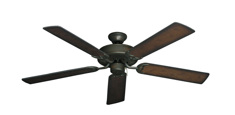 "Picture of Bermuda Breeze V Oil Rubbed Bronze with 52"" Distressed Hickory Blades"