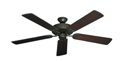 """Picture of Bermuda Breeze V Oil Rubbed Bronze with 52"""" Distressed Cherry Blades"""
