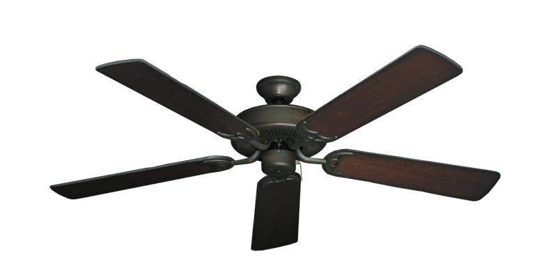 "Picture of Bermuda Breeze V Oil Rubbed Bronze with 52"" Distressed Cherry Blades"